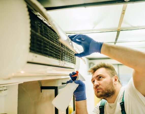 How do you maintain a heat pump